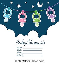 niemowlę przelotny deszcz, zaproszenie