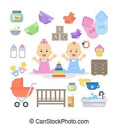 niemowlę, set., essentials
