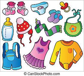 niemowlę, zbiór, odzież