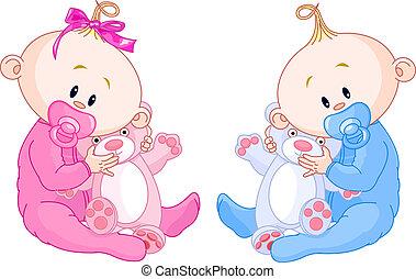 niemowlęta, bliźniak