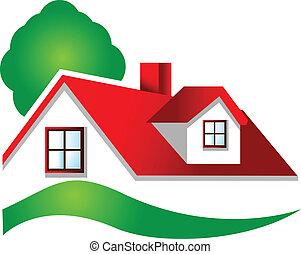 nieruchomość, logo, dom