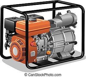 nieruchomy, dostarczcie energii elektrycznej generator
