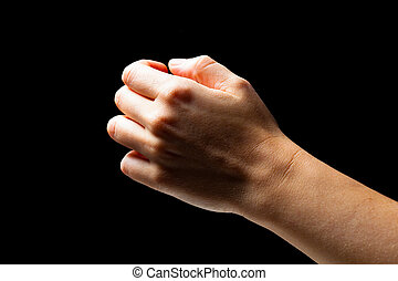 niewidzialny, obiekt, dzierżawa ręka