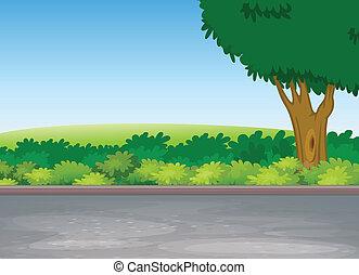 niezależnie, drzewo, droga
