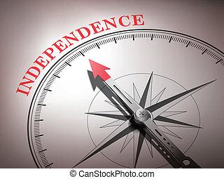 niezależność, busola, abstrakcyjny, igła, spoinowanie, słowo