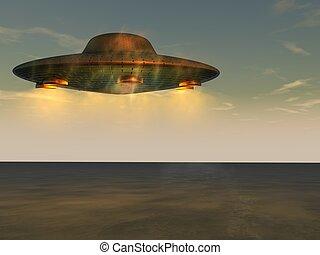 niezidentyfikowany, przelotny, -, obiekt, ufo