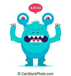 nightmares., dzieciństwo, stworzenie, toothy, potwór, brzydki, growls, scares.