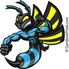 ninja, bojowy, szerszeń