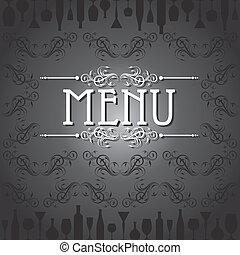 nożownictwo, szablon, menu, karta