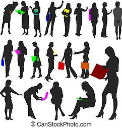 no.2., kobiety, praca, -, ludzie