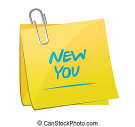 notatka, ilustracja, projektować, nowy, poczta, ty
