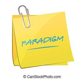 notatka, paradigm, projektować, ilustracja