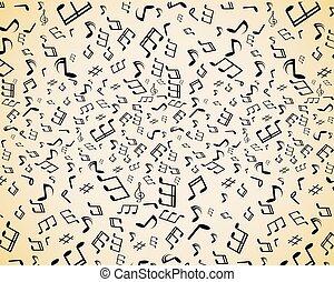 notatki, muzyka, seamless