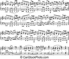 notatki, muzyka, struktura