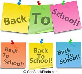 notatki, tekst, szkoła, bacl, lepki