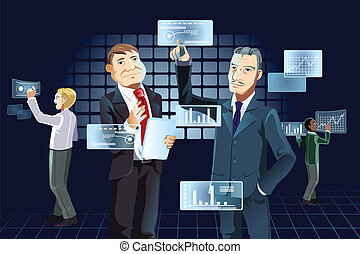 nowa technologia, biznesmeni