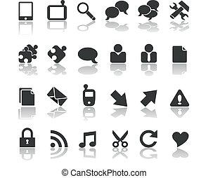 nowoczesny, czarnoskóry, zbiór, handlowy
