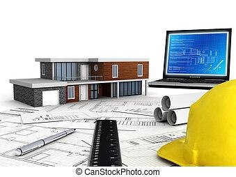 nowoczesny, domowe zbudowanie