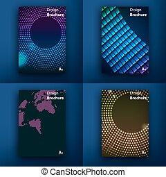 nowoczesny, template., poczta, saa, interface., sieć, sieć, concept., komplet, kreska, płaski, design., app, templates., s, projektować, brochures., ui, ruchomy, ruchomy, icons., technologia, infographic