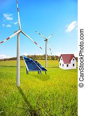 nowy, energia, krajobraz