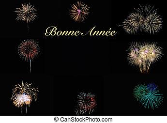 nowy, fireworks., rok