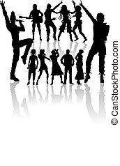 nowy, komplet, śpiew, taniec, ludzie