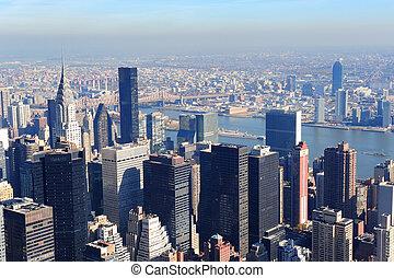 nowy, miasto, drapacze chmur, york