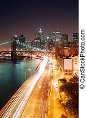 nowy, miasto, york
