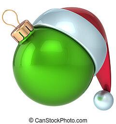 nowy, piłka, zielony, boże narodzenie, rok
