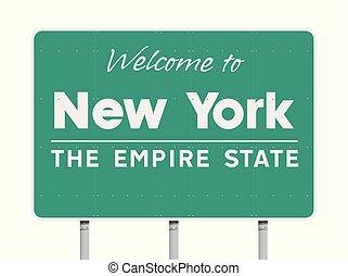 nowy, pożądany, york, droga znaczą