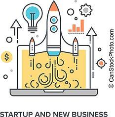 nowy, startup, handlowy