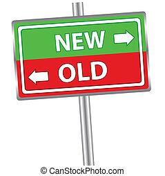 nowy, stary, znak