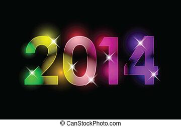 nowy, szczęśliwy, -, 2014, rok