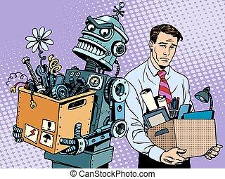 nowy, technologie, doprawia, robot, ludzki