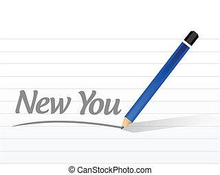 nowy, ty, projektować, wiadomość, ilustracja
