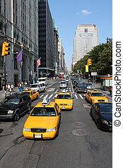 nowy, typowy, handel, york, miasto