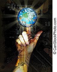 nowy, wejść, świat