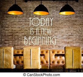 nowy, wiadomość, motivational, początek, dzisiaj