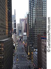 nowy york, ulica., miasto
