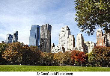 nowy, zabudowanie, york, miasto