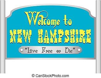 nowy, znak, hampshire, pożądany