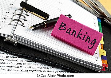 nuta, bankowość, pióro, porządek dzienny