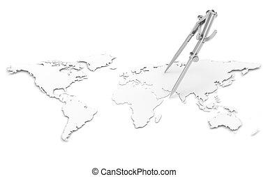 ołówek, busola