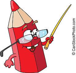 ołówek, czerwony