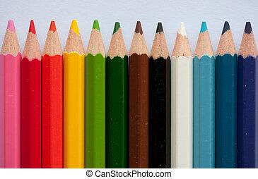 ołówek, kredki
