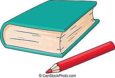 ołówek, książka