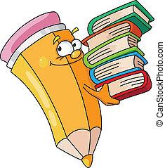 ołówek, książkowy