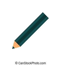 ołówek, zaciągnąć, wykształcenie, zielony, zaprojektujcie farbę, szkoła, ikona