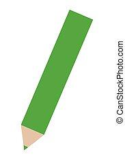 ołówek, zielony, barwny