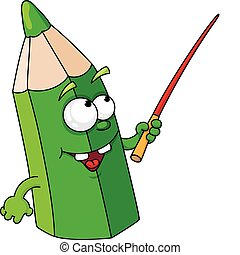 ołówek, zielony